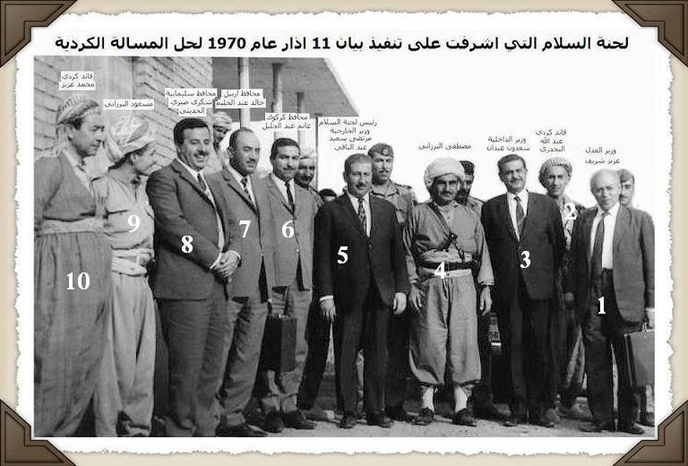 صورة الملا مصطفى البرزاني مع شخصيات أخرى