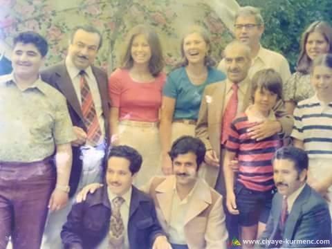 Sala 1976 Barzanî û malbata wî li Emerîka .