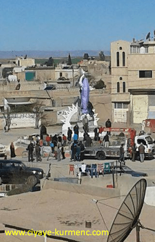 تمثال الحرية - عامودا - كردستان