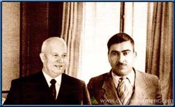 من الأرشيف: الصورة تعود إلى سنة 1955 وذلك في اللقاء الذي جمع بين الملا مصطفى البارزاني والرئيس السوفيتي - خروتشوف - في الكرملين بموسكو.