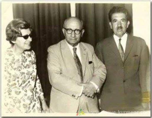 الدكتور كميران بدرخان مع زوجته. تاريخ ومكان الصورة . المانيا 1971.