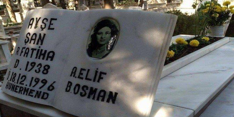 قبر الفنانة الراحلة عيشة شان